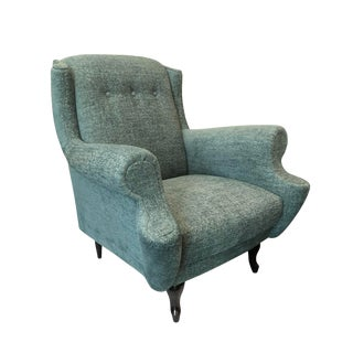 1950s Vintage Button Back Lounge Chair For Sale