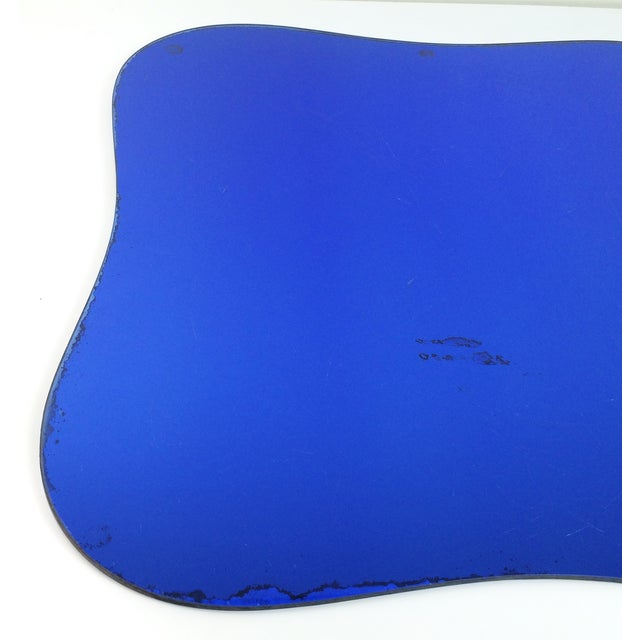 Art Deco Cobalt Blue Glass Mirror Coffee Table For Image 9 Of 10