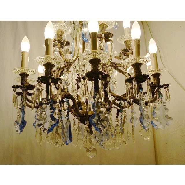 1930s Rococo Chandelier For Sale - Image 5 of 12