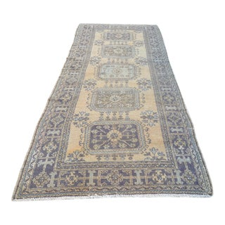 Turkish Oushak Runner Rug - 4′9″ × 11′11″