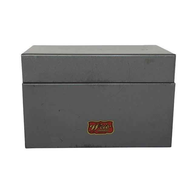 Mid-Century Metal Index Box - Image 1 of 7