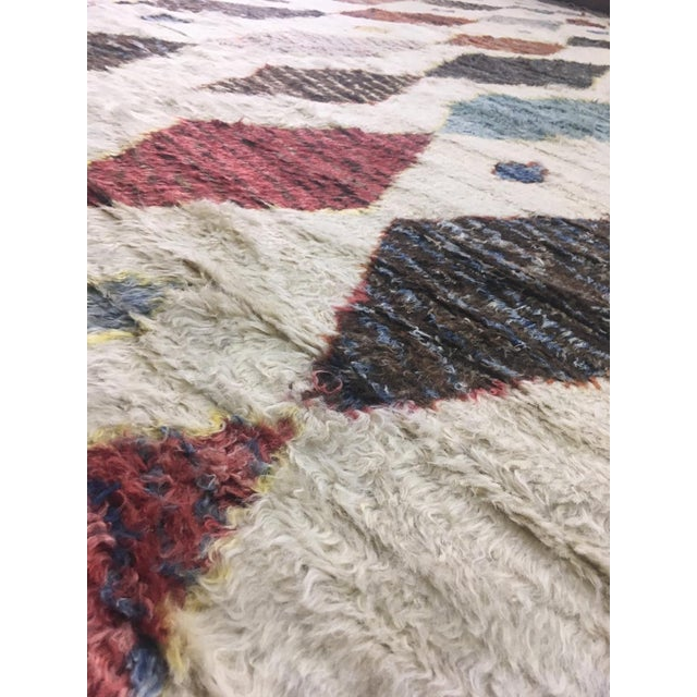2010s Hand Knotted Moroccan Rug- 10′9″ × 13′11″ For Sale - Image 5 of 6