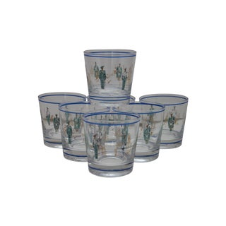 Scottish Guard Glasses - Set Of 7