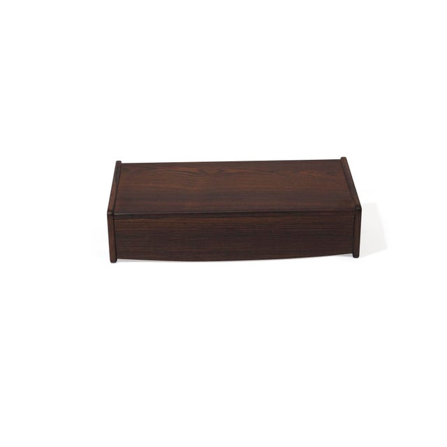 Pair of Floating Danish Rosewood Tables With Drawers For Sale - Image 4 of 9