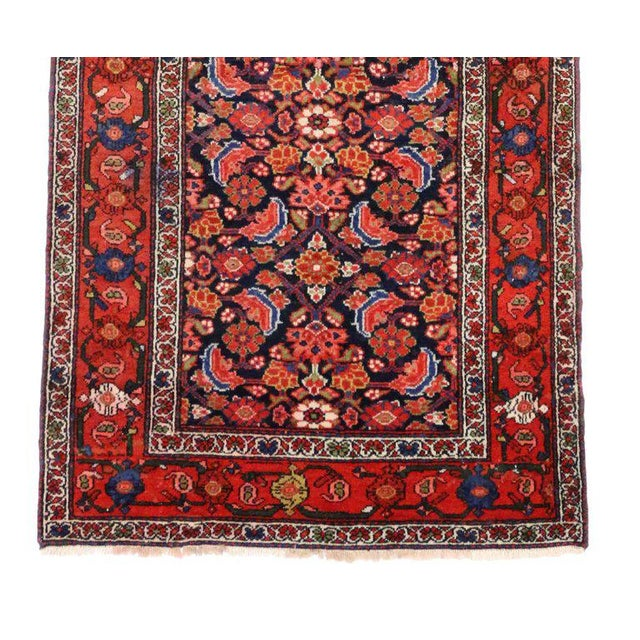 Blue Antique Persian Malayer Runner with Modern Style For Sale - Image 8 of 9