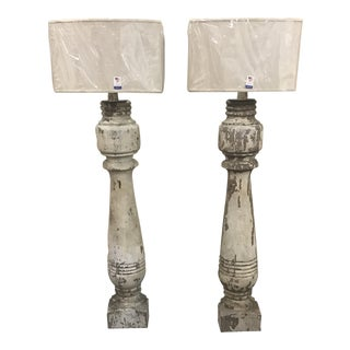 Architectural Wall Lamps With Shades - a Pair For Sale