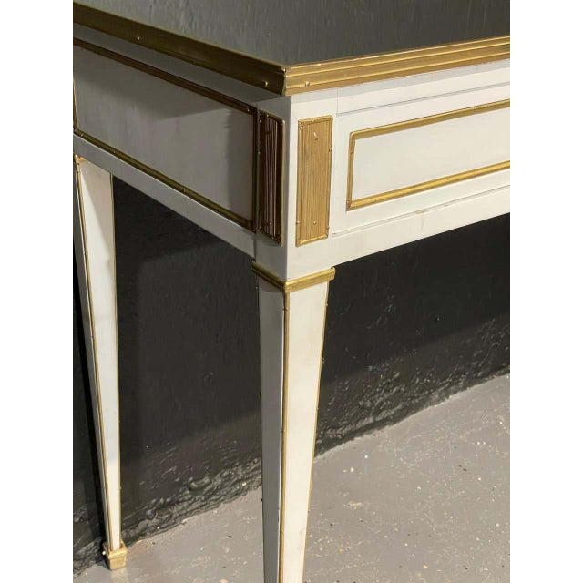 Jansen Hollywood Regency Style Console / Sofa Tables, Mirrored & Painted - a Pair For Sale - Image 10 of 13