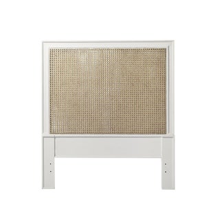 Serena and Lily Harbor White Cane Twin Headboards