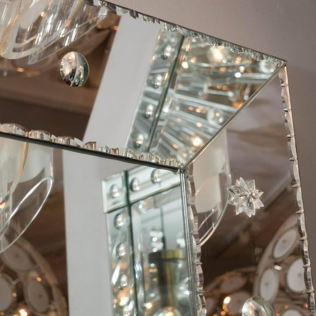 Custom Pie Crust Mirror with Ponti's For Sale - Image 9 of 10
