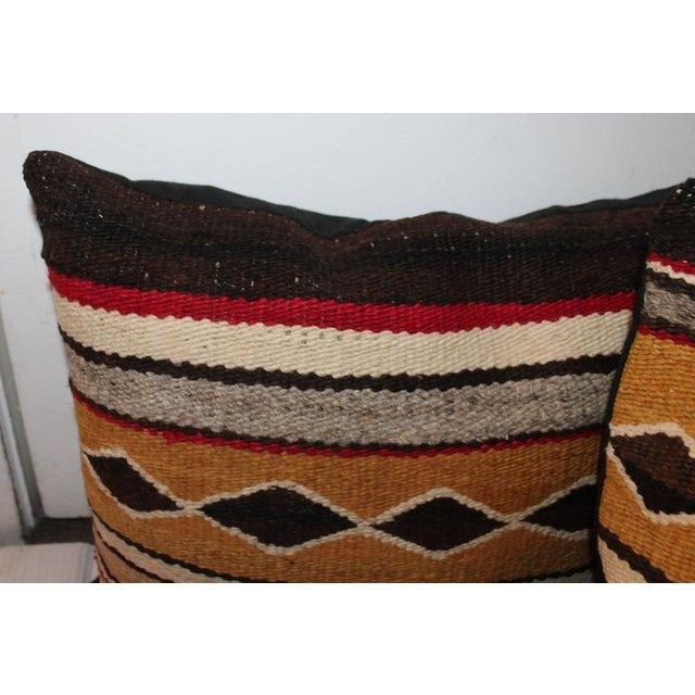Native American Group of Three Chinle Navajo Weaving Pillows For Sale - Image 3 of 5