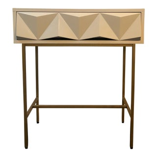 West Elm Sculpted Geo Console Table For Sale