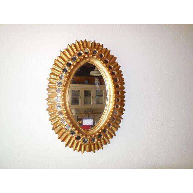 French Gold Gilt Wood Starburst Sunburst Mirror For Sale - Image 11 of 11