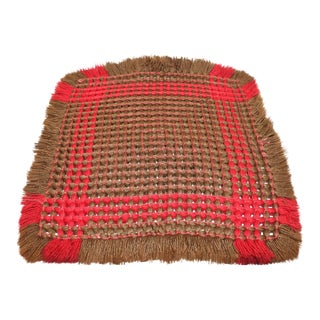 19th Century Handwoven Table Mat from Pennsylvania For Sale