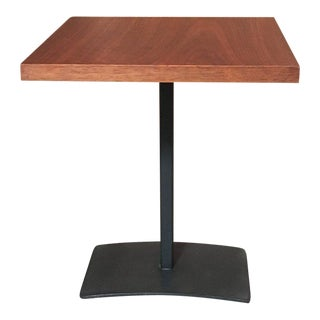 Walnut & Steel Milo Baughman Side Table