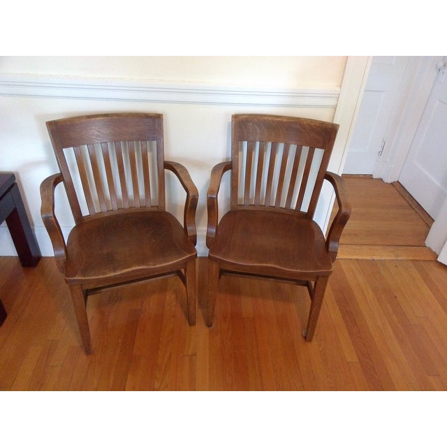 Vintage Library Chairs - A Pair - Image 2 of 3