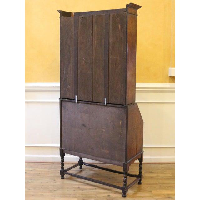 1910s Jacobean Oak Bureau Bookcase For Sale - Image 11 of 13