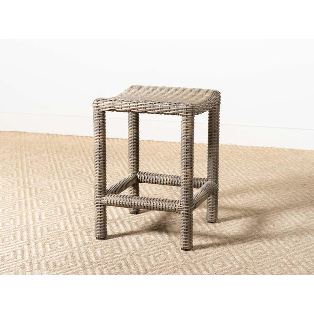 New Outdoor Parsons Counter Stool in Driftwood For Sale - Image 6 of 6