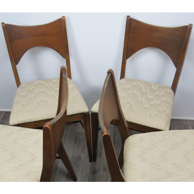 Mid-Century Modern Walnut Bowtie Dining Chairs by Lenoir - Set of 4 For Sale - Image 11 of 13