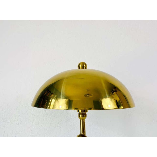 Heavy Italian Midcentury Solid Brass Table Lamp, 1960s, Italy For Sale - Image 11 of 13