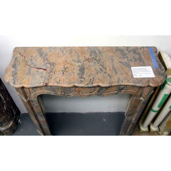 Marble French Pompadour Marble Mantel For Sale - Image 7 of 7