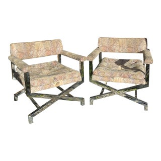1980s X-Base Chrome Directors Chairs** - a Pair For Sale