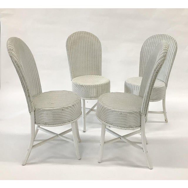 1950s Woven Lloyd Loom Chairs — Set of 4 For Sale In Atlanta - Image 6 of 12