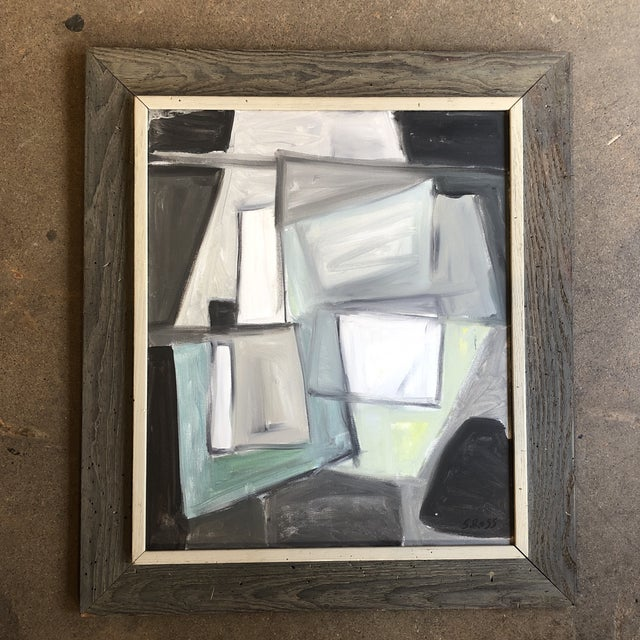 Original Stewart Ross Modernist Abstract Painting For Sale In Philadelphia - Image 6 of 6
