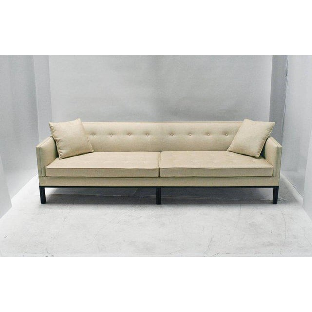 White Midcentury Dunbar Sofa by Edward Wormley For Sale - Image 8 of 10