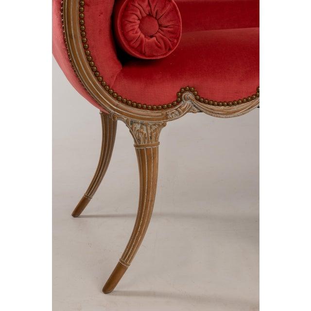 Antique Regency Neoclassical Klismos Saber Leg Bench For Sale - Image 11 of 13