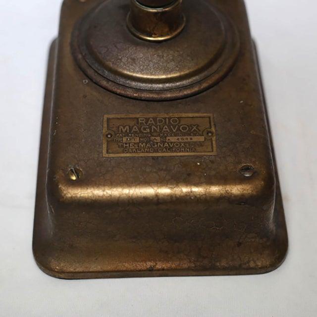 1920s Magnavox Metal Speaker Horn For Sale - Image 5 of 8