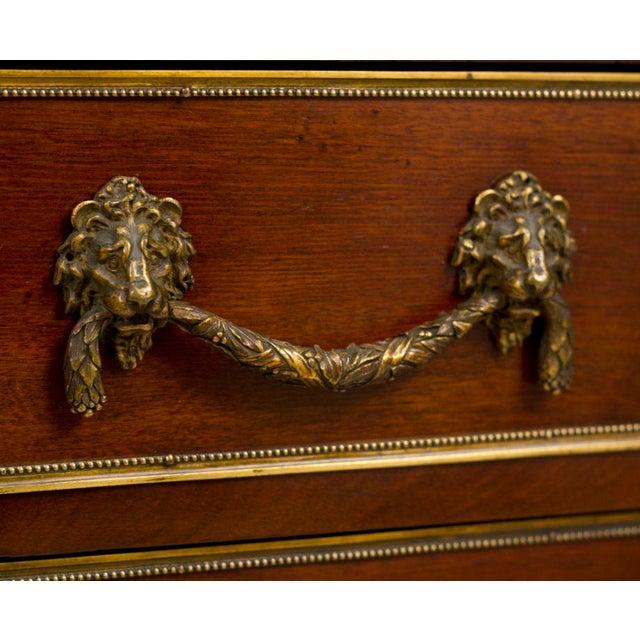 Louis XVI Style Walnut Bookcase Commode - Image 6 of 8