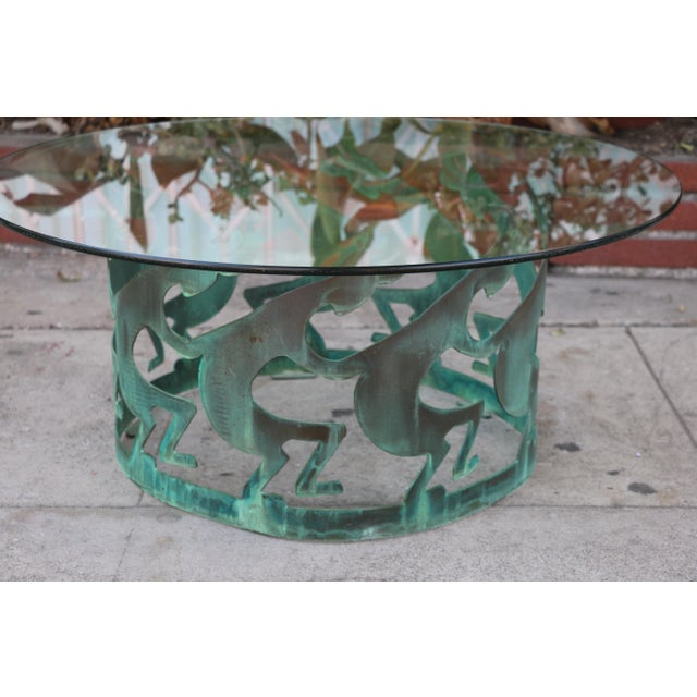 Abstract Vintage Beautiful Low Bronze Coffee Table For Sale - Image 3 of 12