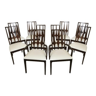 """Mid-Century Modern Broyhill """"Brasilia"""" Dining Chairs - Set of 10 For Sale"""