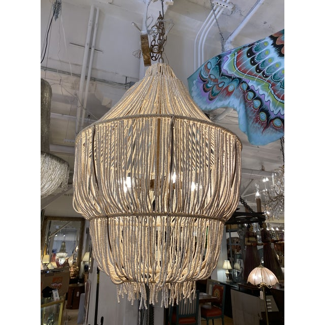 2010s Made Goods CoCo Bead Aida Chandelier For Sale - Image 5 of 10