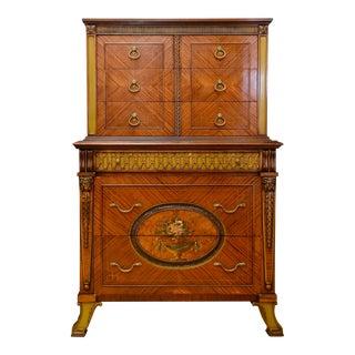 1960s Decorative Mahogany Highboy Dresser For Sale