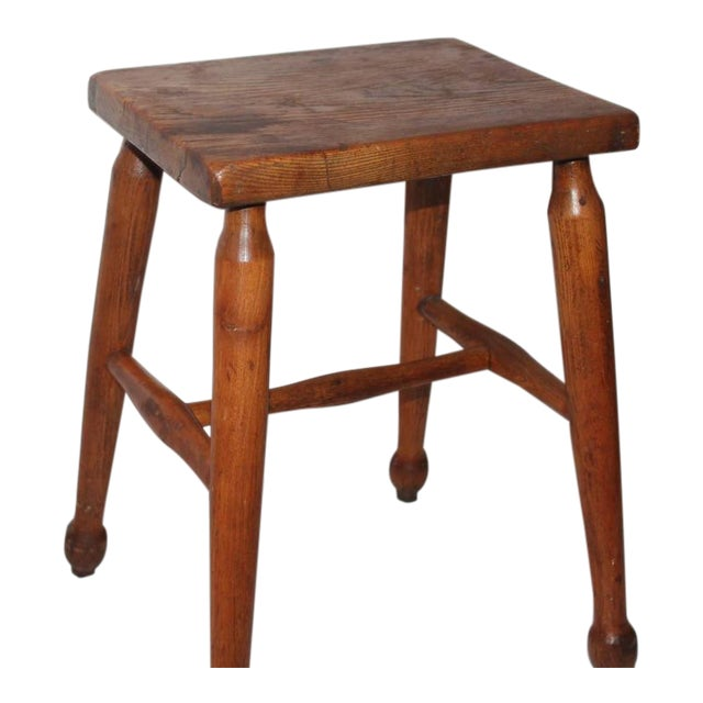 19th Century New England Pine Stool - Image 1 of 6