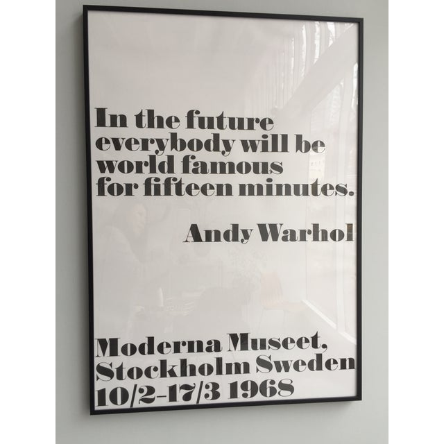 "Modern ""In the Future"" Andy Warhol Poster For Sale - Image 3 of 3"