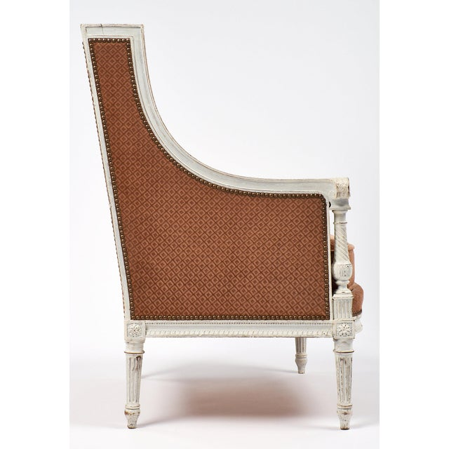 Antique French Louis XVI Style Bergère - Image 5 of 7