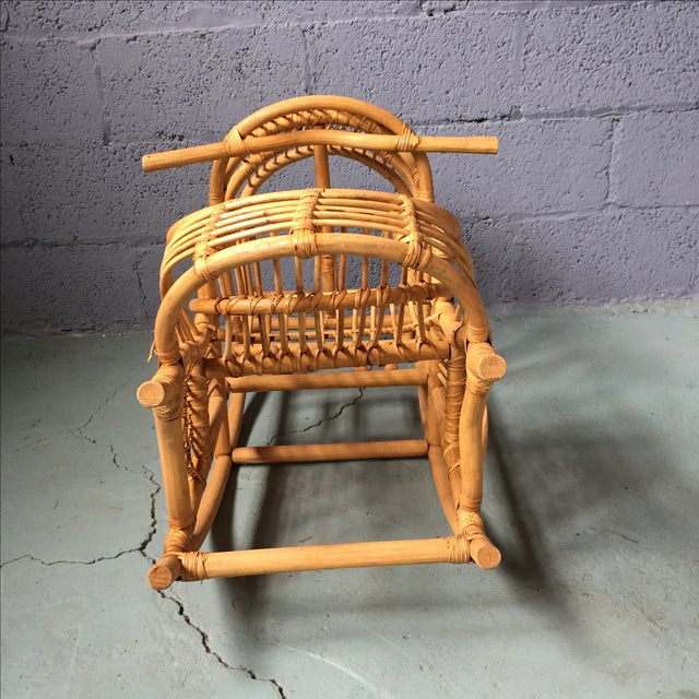 Vintage Child's Rattan Rocking Toy - Image 6 of 11