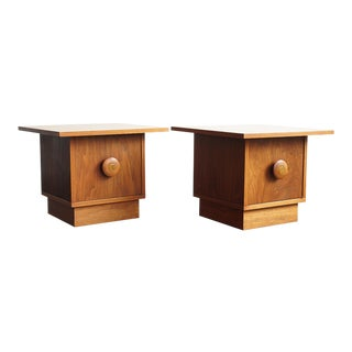 1960s Danish Modern John Keal for Brown Saltman Teak End Tables - a Pair For Sale