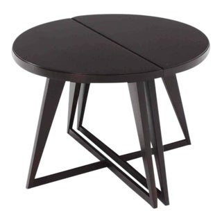 Demilune Side End Tables - a Pair For Sale