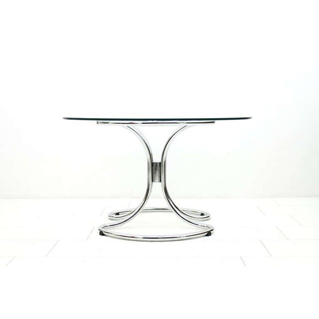 Mid-Century Modern Glass and Steel Tube Dining Table by Giotto Stoppino, Italy 1960`s For Sale - Image 3 of 9