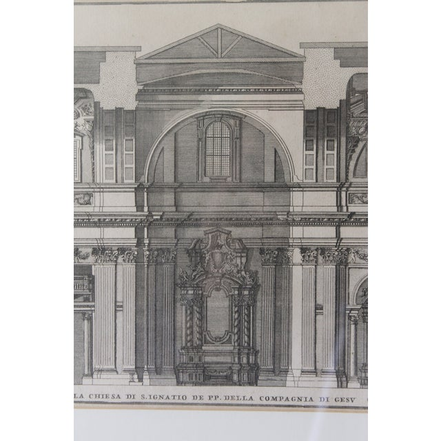 Early 19th Century Antique Spaccato De La Chiesa Architectural Print For Sale - Image 4 of 12