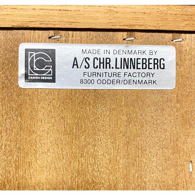 Wood Christian Linneberg Danish Teak Mid Century Modern 2-Piece Buffet Hutch For Sale - Image 7 of 8