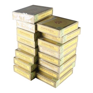Vintage Monte Cristo Cigar Boxes - 10 Pieces For Sale