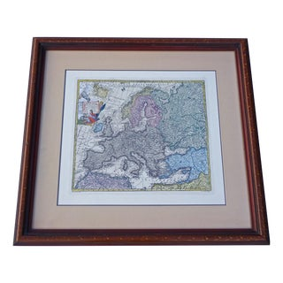 Old European Latin Map by TC Lotter For Sale