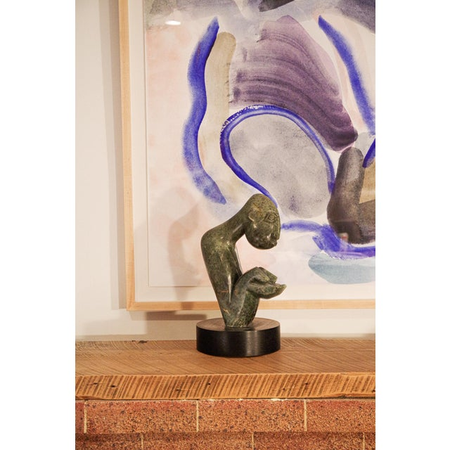 """Contemporary African """"Asking for Help"""" Stone Sculpture by Maikosi Kanyeredza For Sale - Image 10 of 12"""