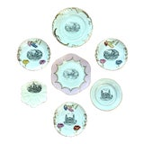 Image of Antique Historical Scenes Souvenir Transferware Plates - Set of 7 For Sale