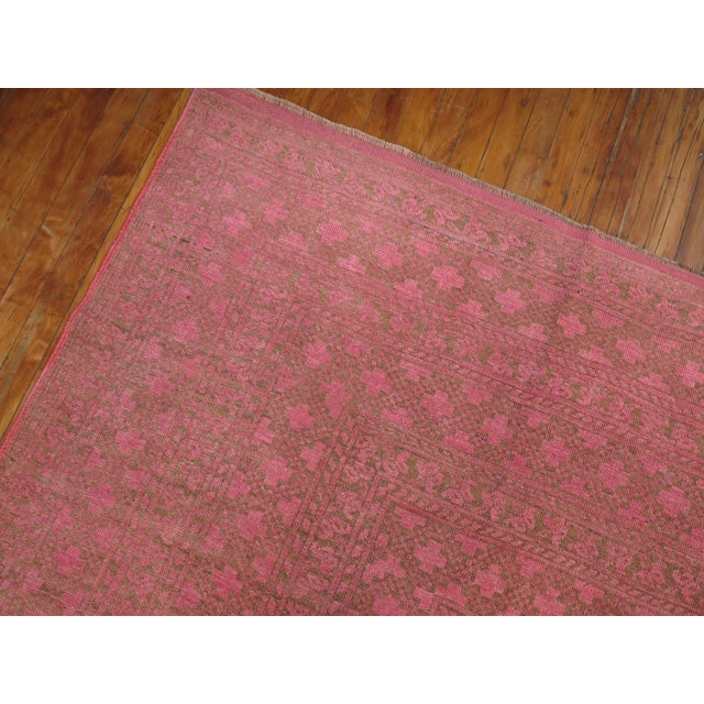 Wild Pink Vintage Tribal Rug, 10'10'' X 13'5'' For Sale - Image 9 of 11