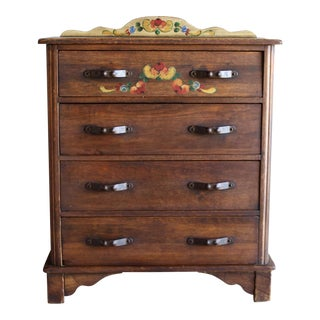 Authentic Signed Monterey Vintage Hand Painted Dresser Chest Highboy 1930s Rancho Early California Spanish Revival